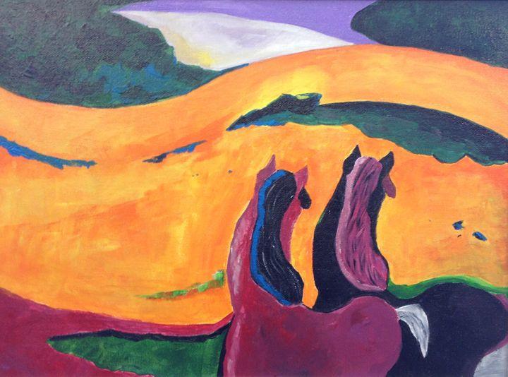 Horses - Jozsef Burge Gallery