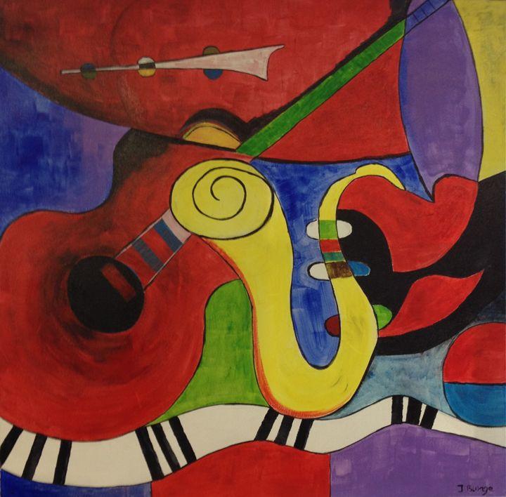 Jazz Band - Jozsef Burge Gallery