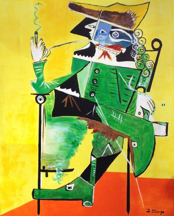 Gentleman in Chair - Jozsef Burge Gallery