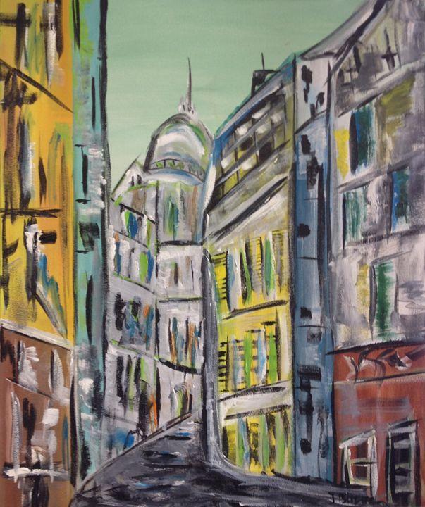 City Street - Jozsef Burge Gallery