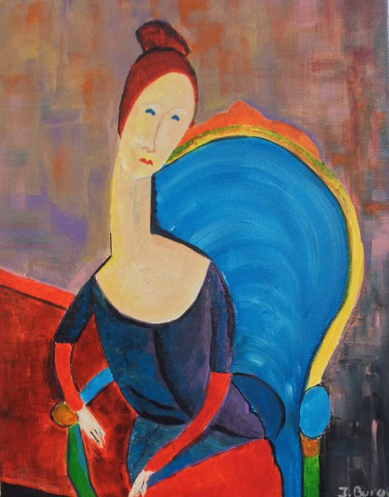 Lady in Chair - Jozsef Burge Gallery