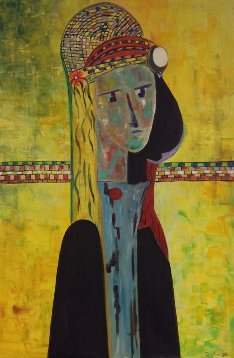 Lady in Hat - Jozsef Burge Gallery