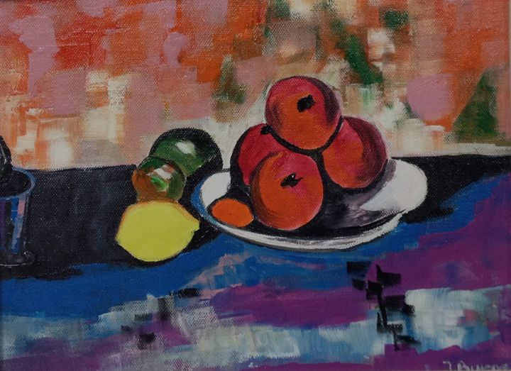 Fruit on a Plate - Jozsef Burge Gallery
