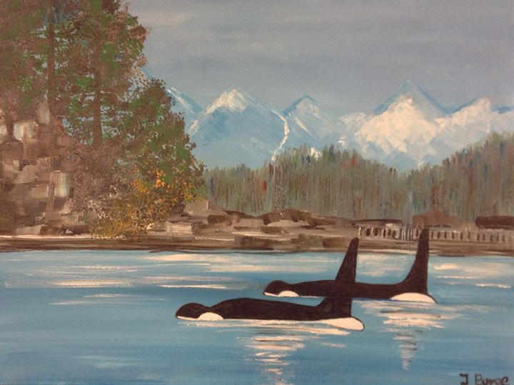 Orcas by Land - Jozsef Burge Gallery