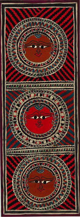 Madhubani Painting/ Sun - INDIAN ART