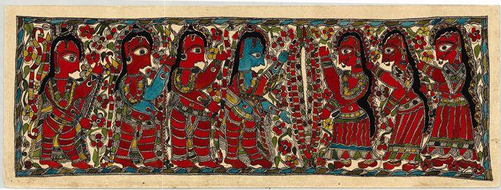 Madhubani Painting / Krishna - INDIAN ART