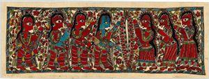 Madhubani Painting / Krishna