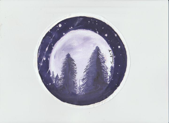 Beautiful Moon light with cedar view - mouekit_art