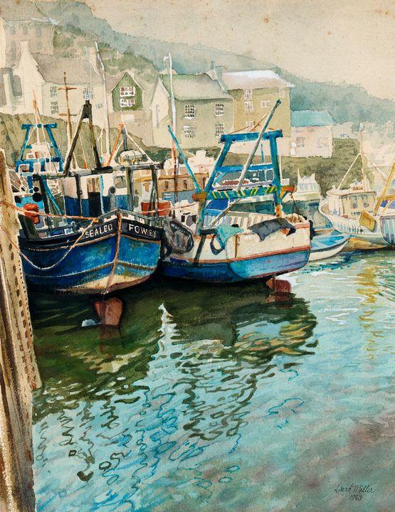 High Tide in Polperro, Cornwall - David Miller Studio