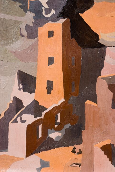 Square Tower - Linda J Armstrong on ArtPal