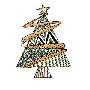 Sapin de Noël stylisé