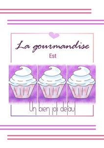 Affiche/poster gourmandise