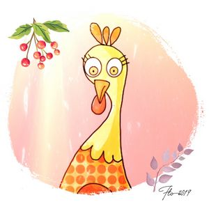 Cartoon poule, poulet