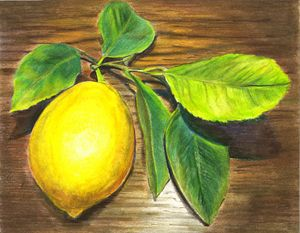 Lemon and wood