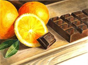 Oranges and chocolate.