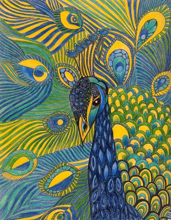 Blue Peacock - Tatiana Lind