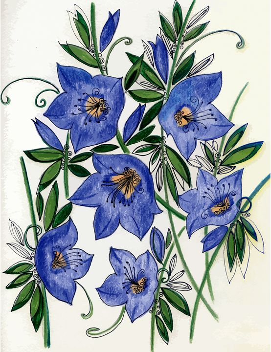 Blue flowers - Tatiana Lind