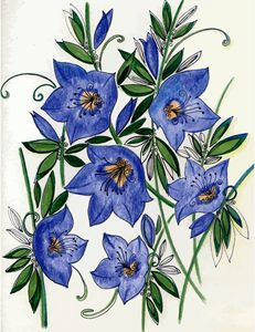 Blue flowers - Tatiana Lind