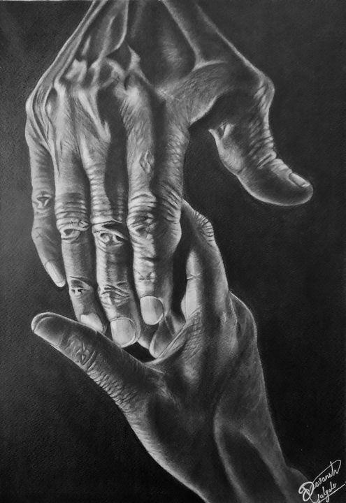holding hands - dev art