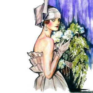 Lady with a bouquet