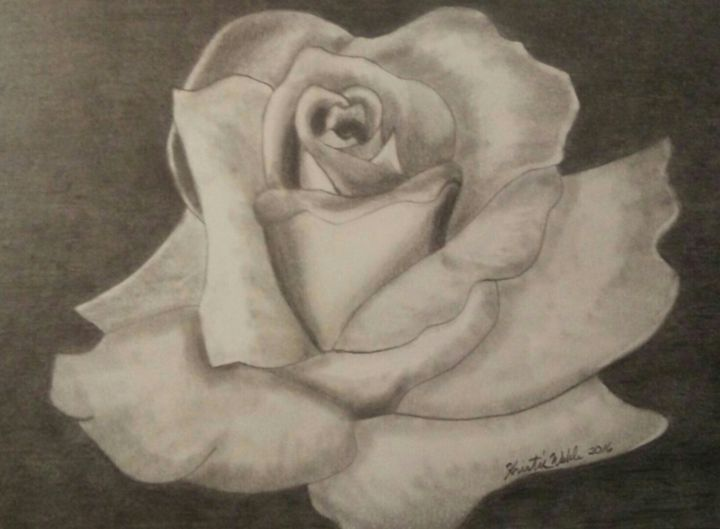 Grey Rose - Artworks by Kristie Webb