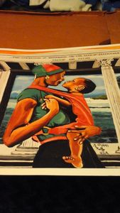 African American  black art of two w