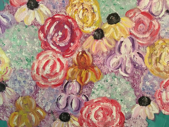 Wild flowers and Roses - Andrea Brewer's Artwork and Crafts