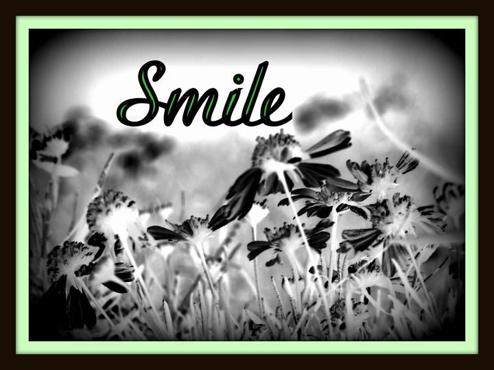 "Black & White ""Smile"" - A Touch of Forever by Cassie"
