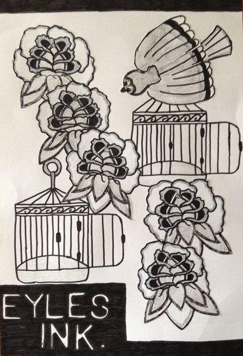 Eyles Ink Cage Free - Eykes Ink Sale Print