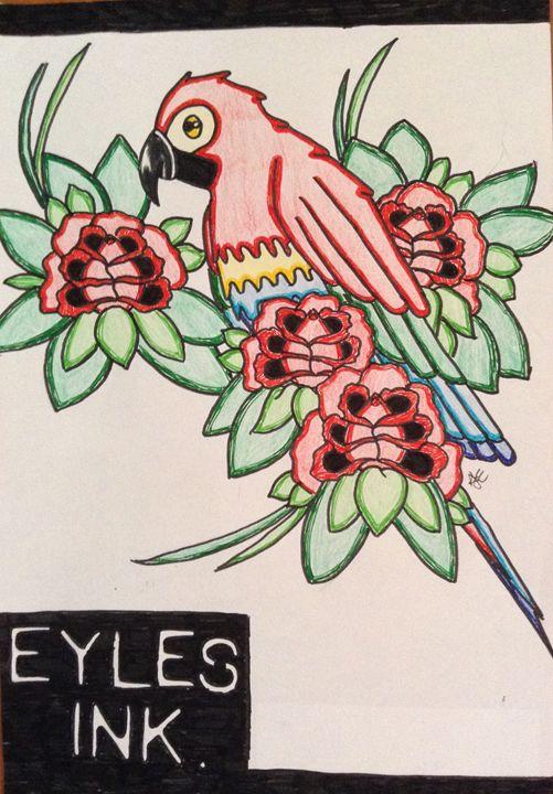 Eyles Ink Single Parrot - Eykes Ink Sale Print