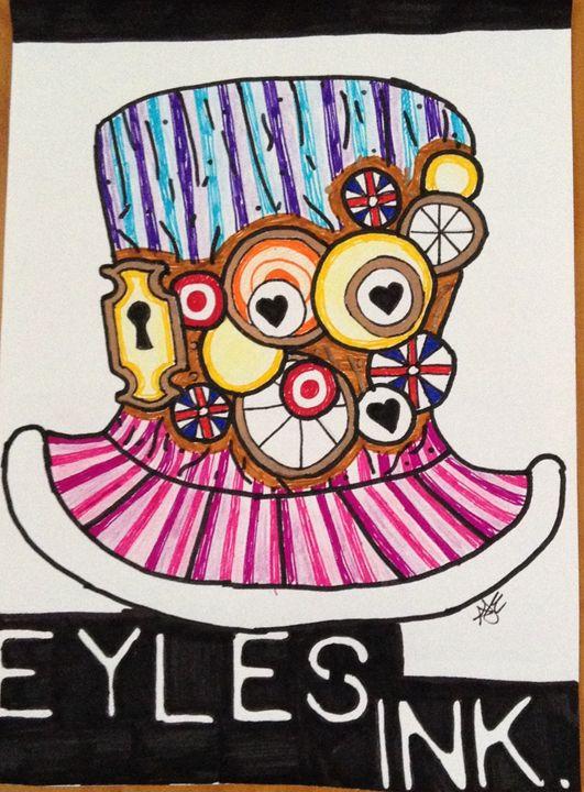 Eyles Ink Vintage Mad Hatter Hat - Eykes Ink Sale Print