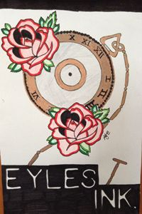 Eyles Ink Pocket Watch and Roses