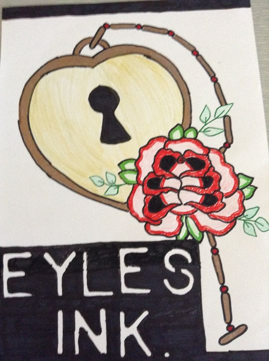 Eyles Ink Love Locked - Eykes Ink Sale Print