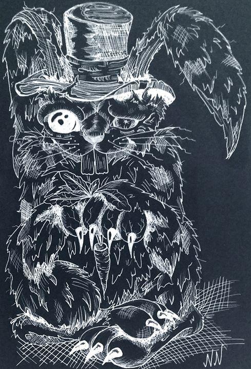 Sleepless Bunny (Edit) - Art of Nikki Nade (AU)