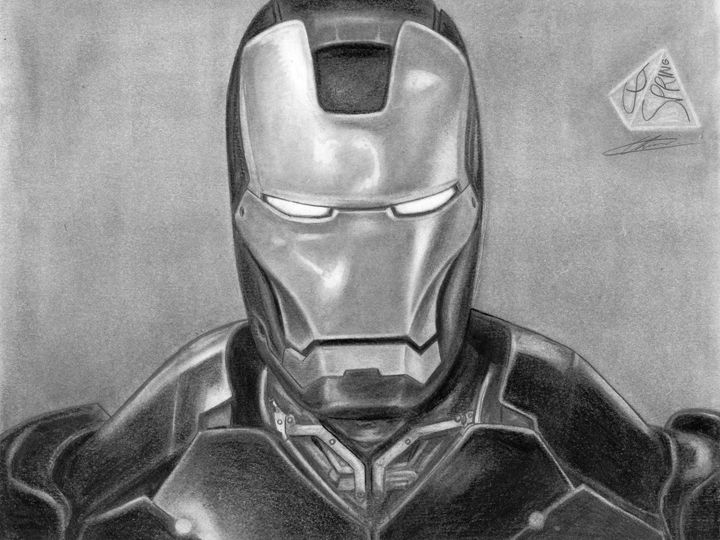 Aptly named Iron man - CJSpring's Art Studio