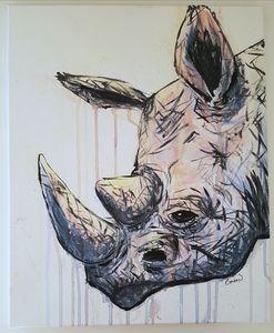 Original Acrylic Rhino Painting