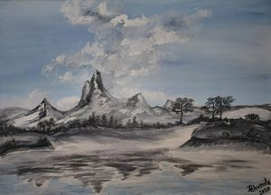 """Cool Mountains Peace"" - Original - Petronela Art"
