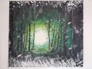 """Forest's Light"" - Original Paint"
