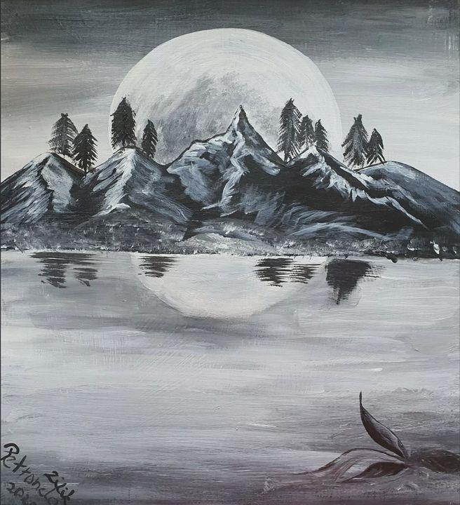"""""""Cool Mountains Moon"""" - Petronela Art"""