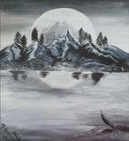 """Cool Mountains Moon"" - Original"