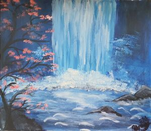 """Natural Waterfall"" - Petronela Art"