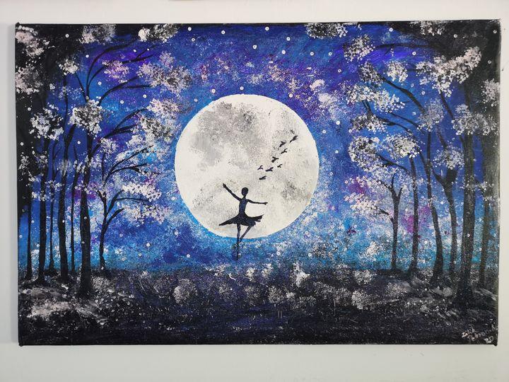"""Nature Dance"" - Original Paint - Petronela Art"
