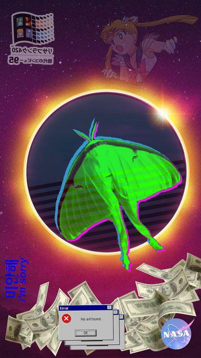 Luna Moth Solar Eclipse v1 - Hi Mesa Arts