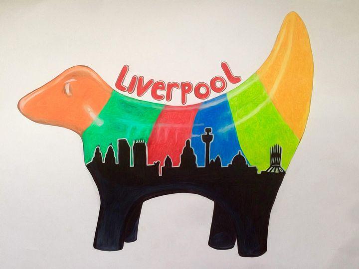 Liverpool Skyline - Lamb Banana - Liz Worthington