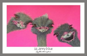Liz, Jenny & Sue - Grey border.