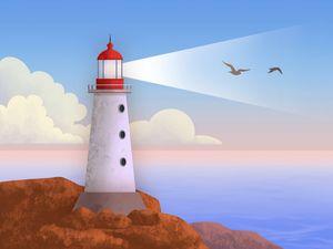 Pastel colors lighthouse