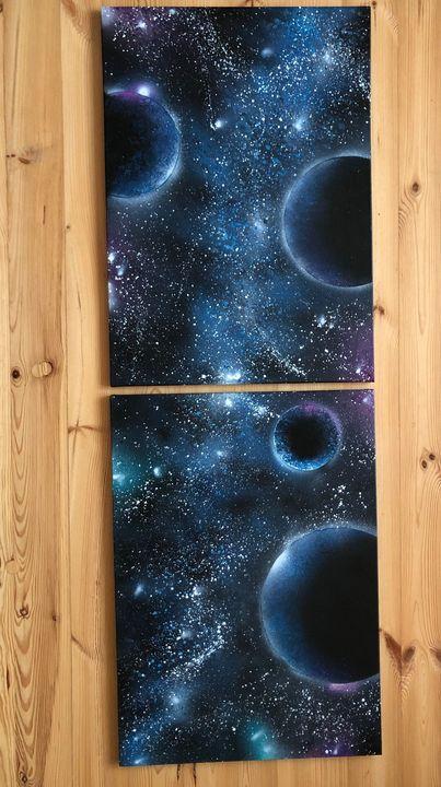 diptych Cosmos 5 - Lewapko
