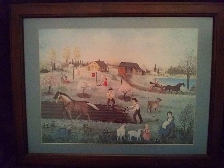 Martha Cahoon painting signed - Amanda's Millions