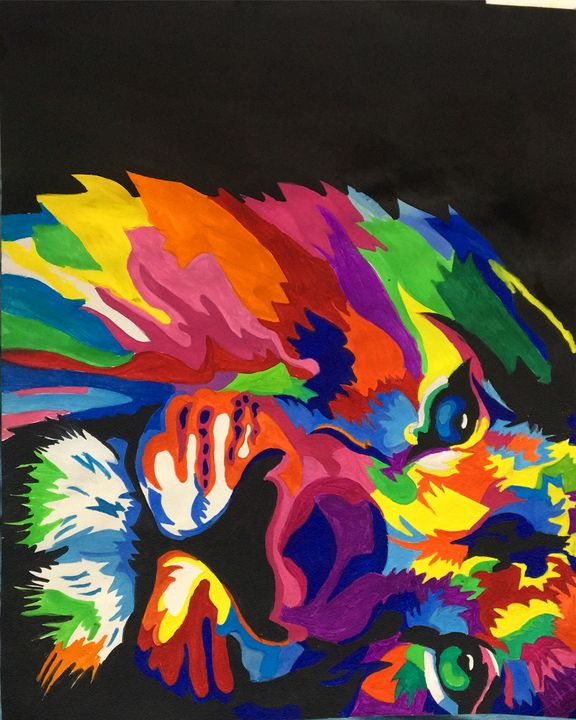 Abstract lion painting - Manyatha