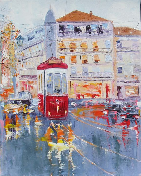Red Tram - Elena Nayman